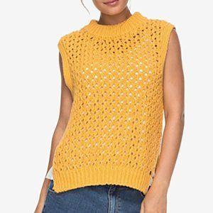 Roxy Juniors' Open-Knit Sleeveless Sweater